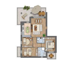 Girasoli 2 quadrilocale appartamento 03