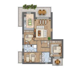 Girasoli 2 Attico appartamento 05