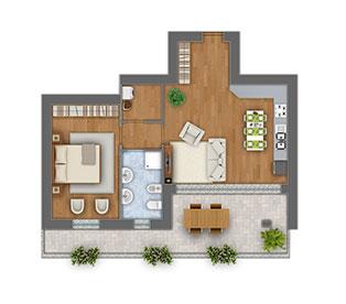 Girasoli 2 bilocale appartamento 07