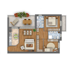 Margherita quadrilocale appartamento 3