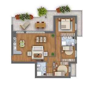 Margherita attico quadrilocale appartamento 8