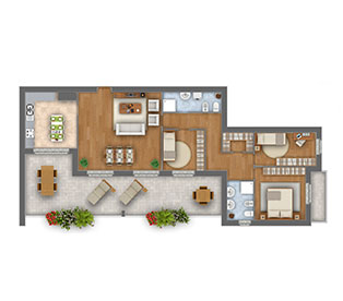 Margherita attico quadrilocale appartamento 9