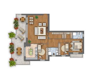 Margherita attico quadrilocale appartamento 10