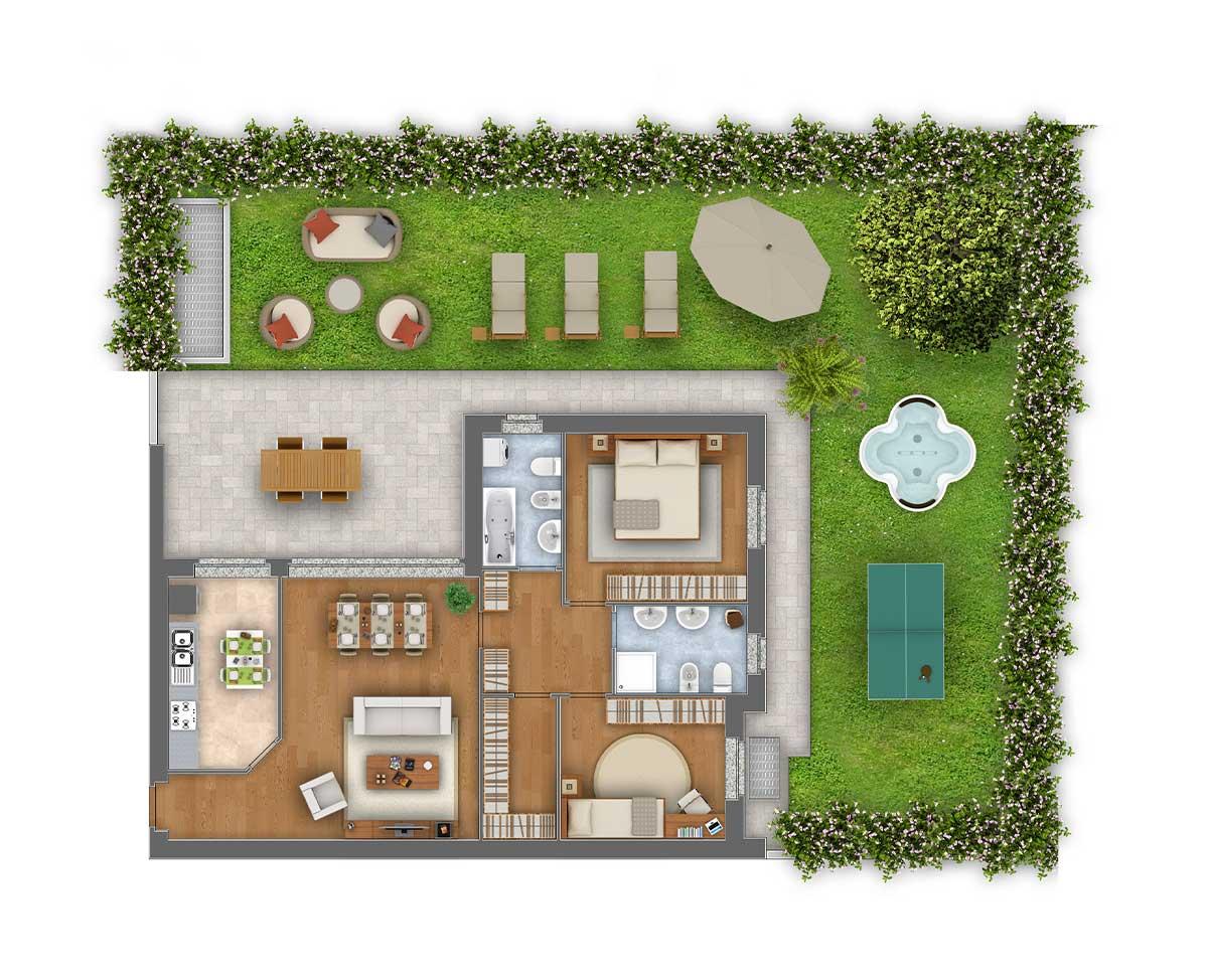 Margherita trilocale appartamento 1