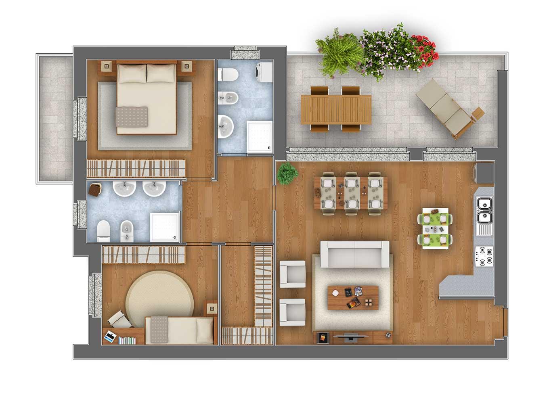 Margherita Trilocale appartamento 7