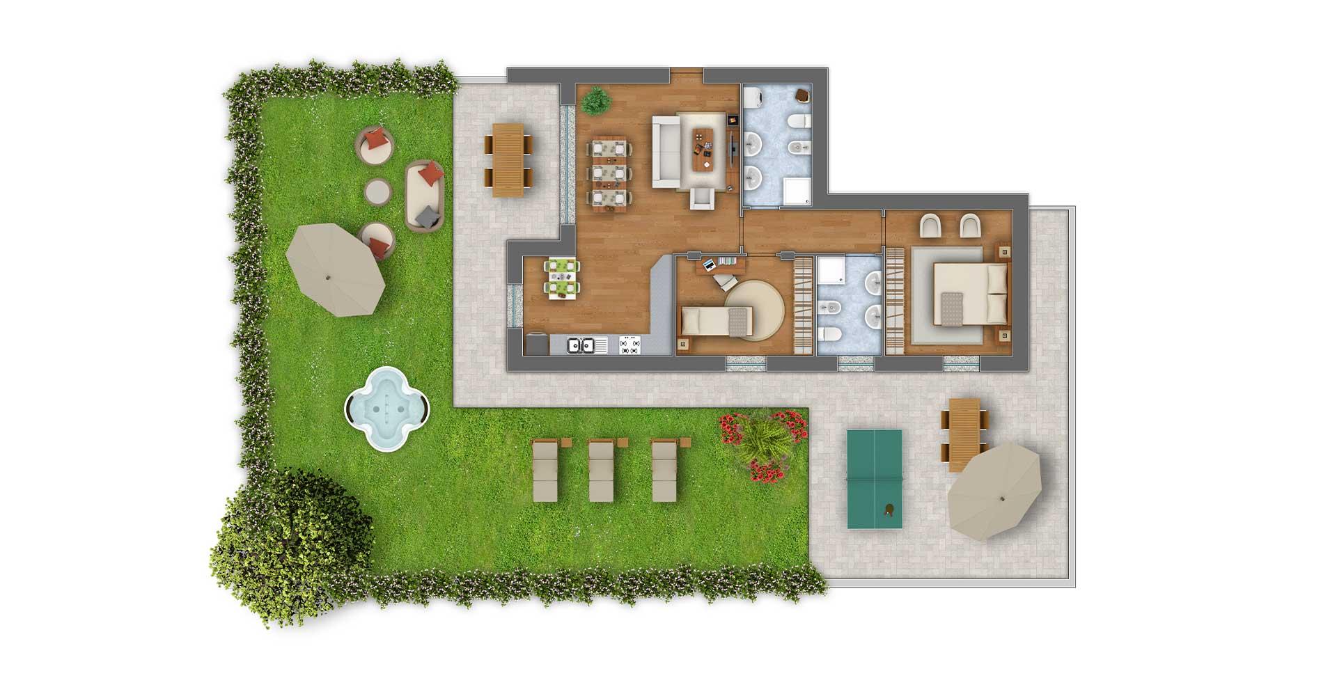 Girasoli 2 trilocale appartamento 01