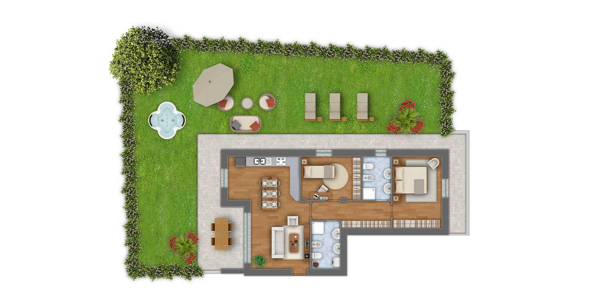 Girasoli 2 trilocale appartamento 02