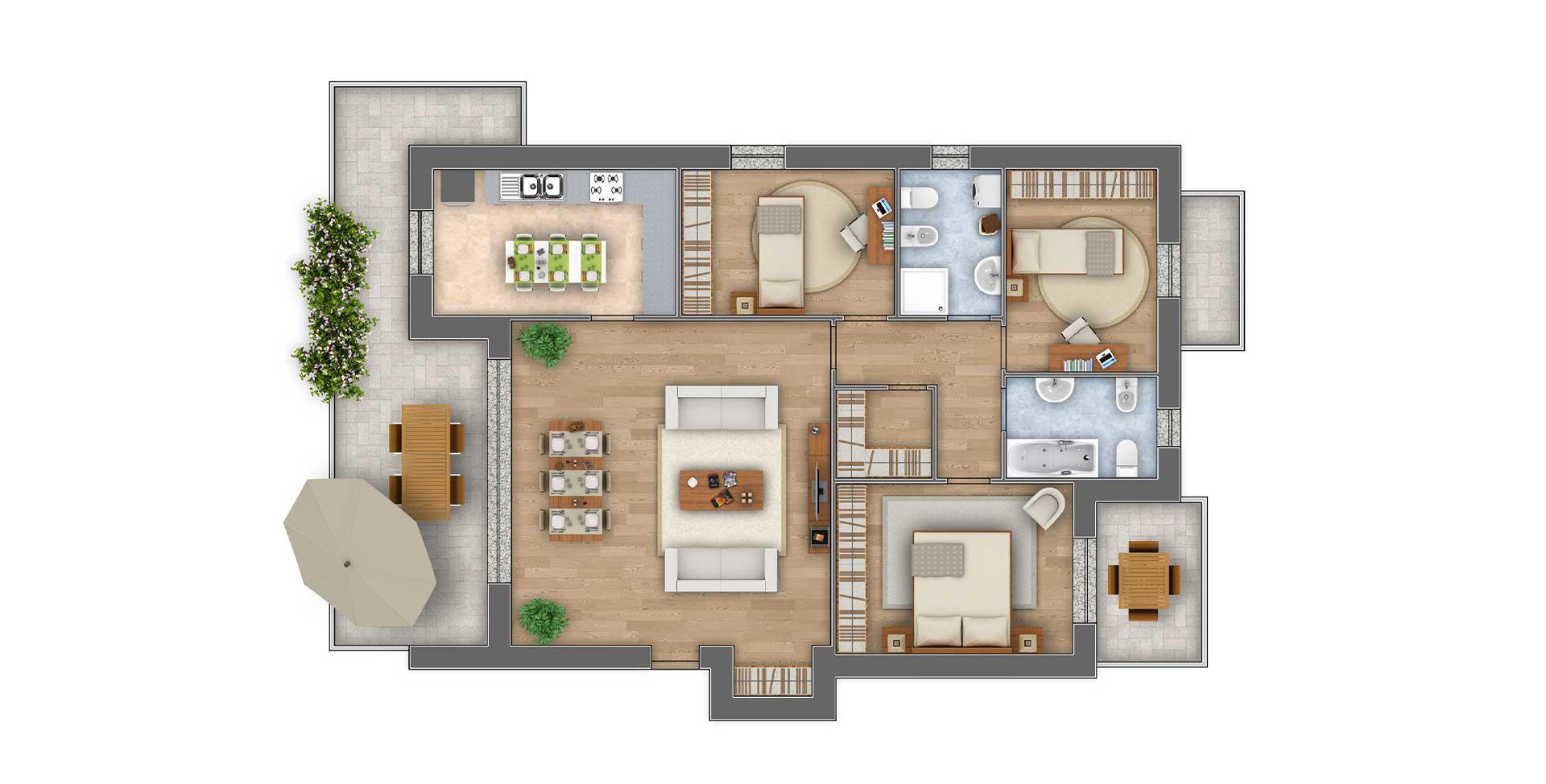 Girasoli 2 attico appartamento 06