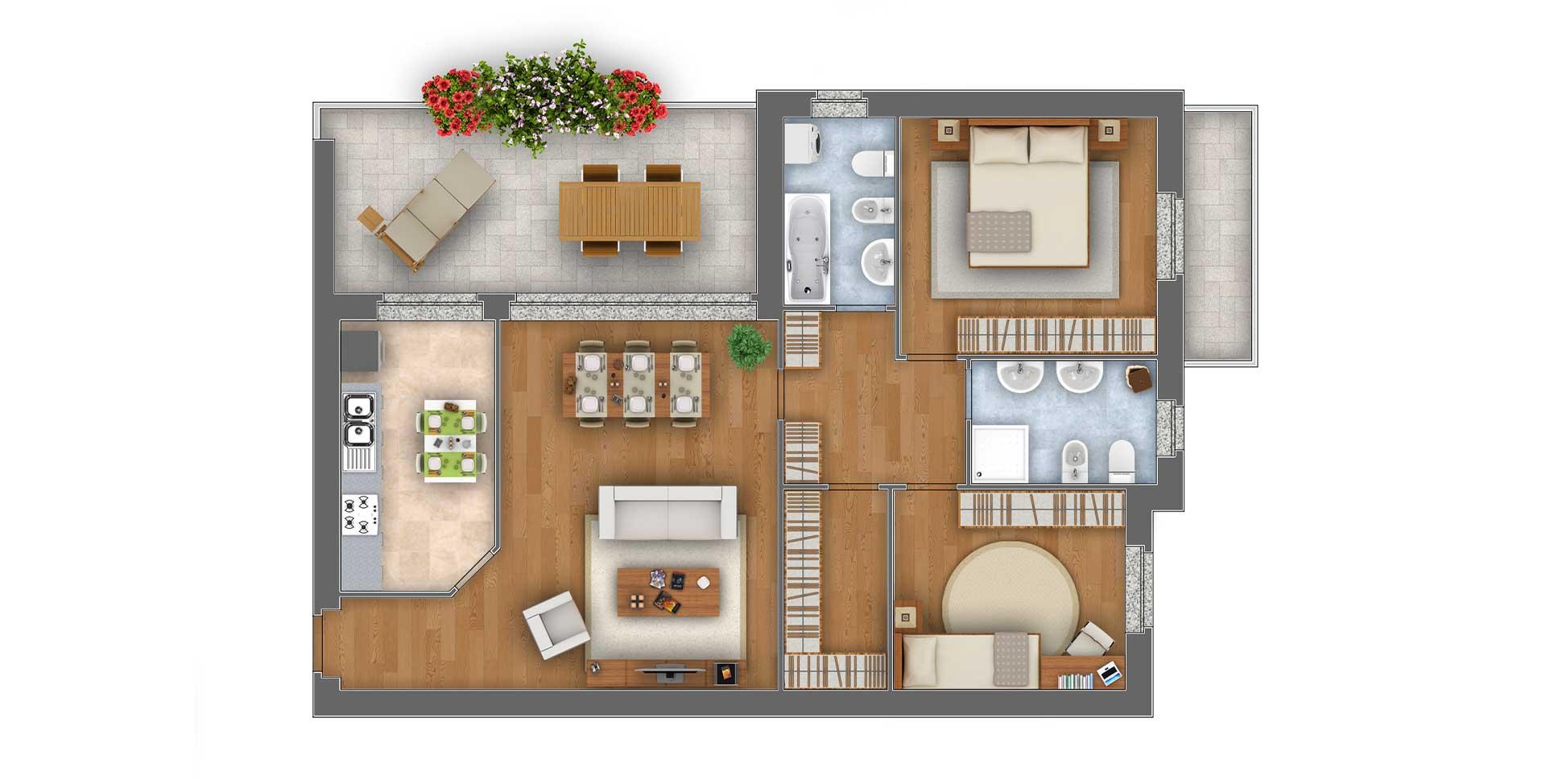 Margherita trilocale appartamento 4