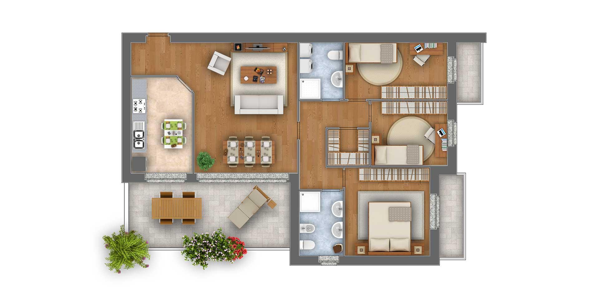 Margherita Quadrilocale appartamento 5