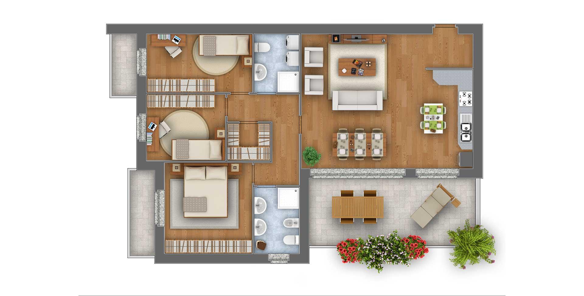 Margherita Quadrilocale appartamento 6