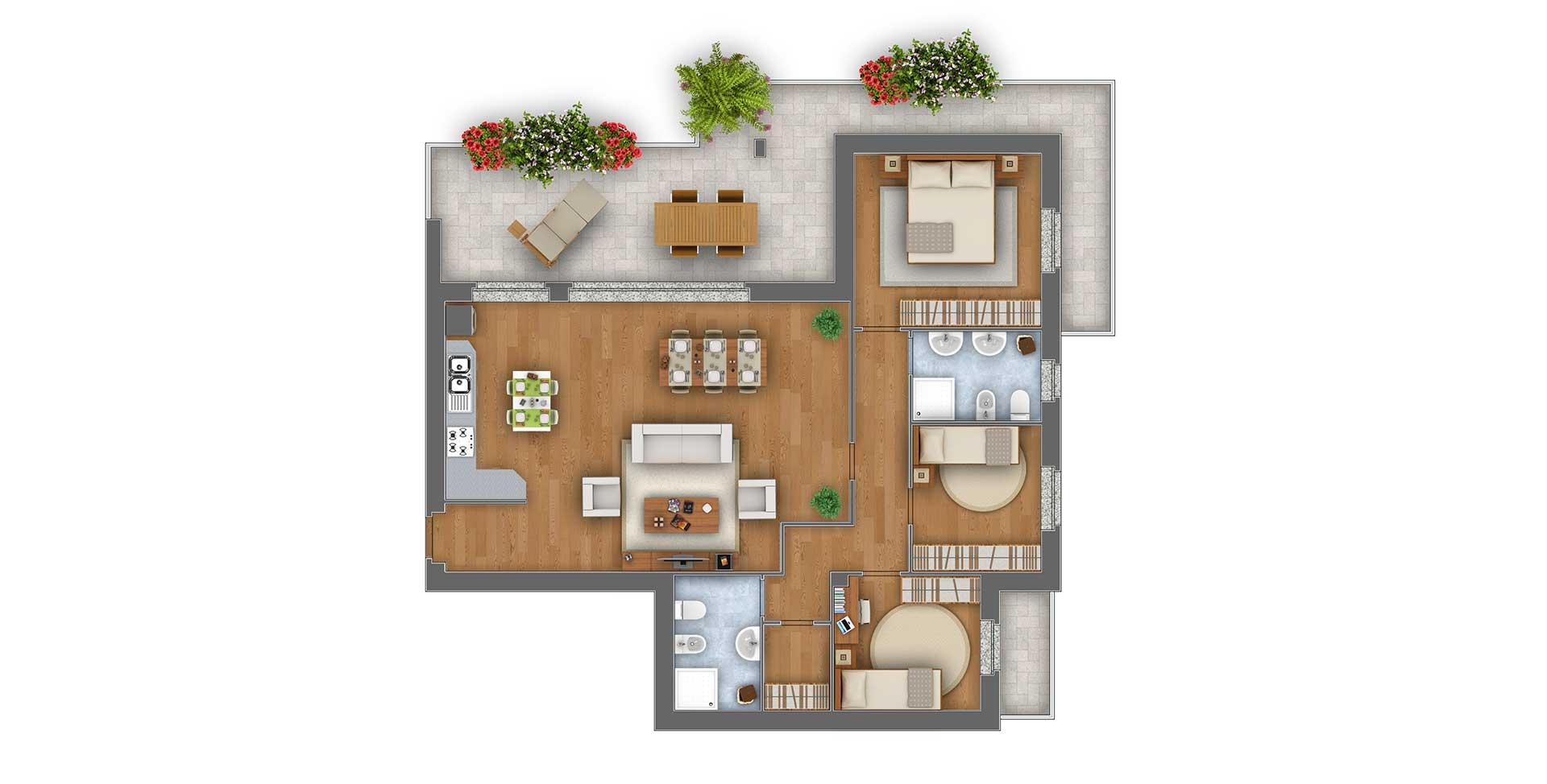 Margherita Attico appartamento 8